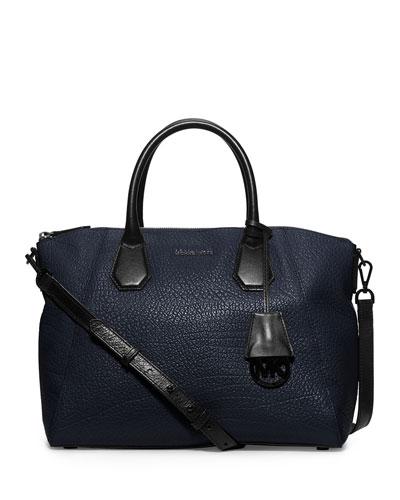 Campbell Large Satchel Bag, Navy/Black