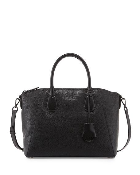 MICHAEL Michael Kors Campbell Large Satchel Bag, Black