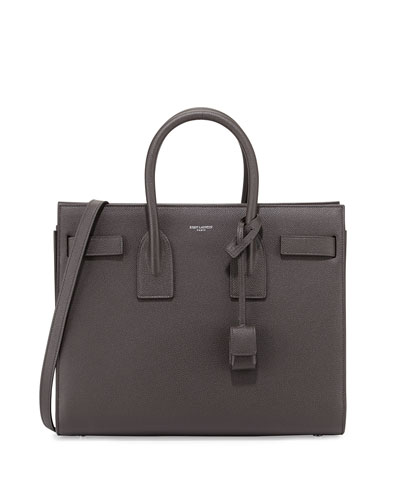 Sac de Jour Calf Small Satchel Bag, Dark Gray