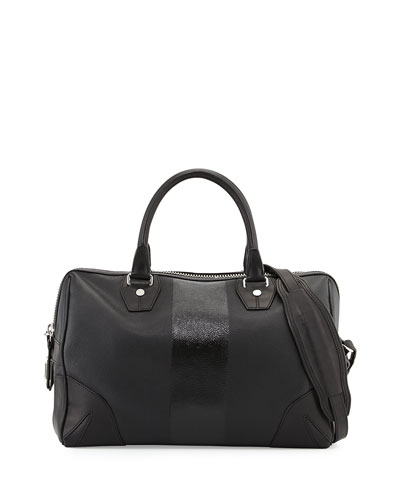 Flight Satchel Bag, Black