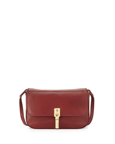 Cynnie Nano Lambskin Messenger Bag, Red Gala
