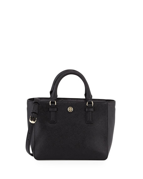 Tory Burch Robinson Mini Square Tote Bag, Black