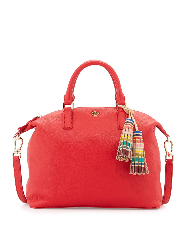 8675b097ff6 Tory Burch Small Slouchy Satchel Bag w Tassel