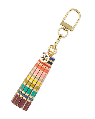 Striped Tassel Key Fob, Multicolor