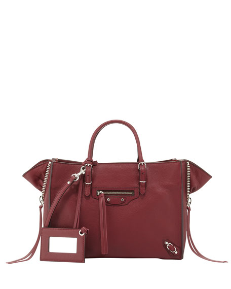 Balenciaga Papier A6 Mini Calf Zip-Around Tote Bag,