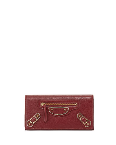Edge Goatskin Money Wallet, Red