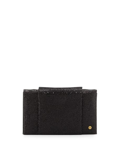 Halston Heritage Leather Sparkle Wallet Evening Clutch Bag,