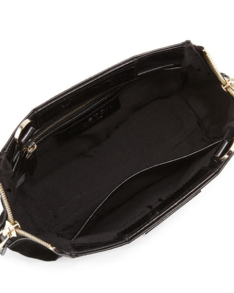 907c8b5d56 Halston Heritage Glazed Leather   Suede Evening Clutch Bag