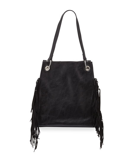 Urban Originals Wonder Fringed Tote Bag, Black