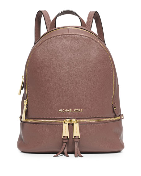 41351b1dd78770 ... reduced michael michael kors rhea small zip backpack dusty rose neiman  marcus 19305 29b12