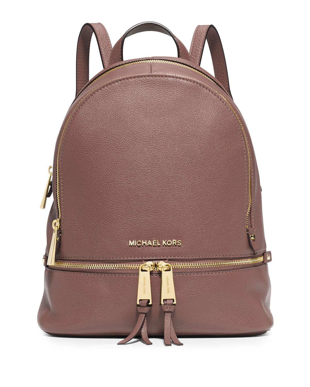 57c82d97d2b5cf MICHAEL Michael Kors Rhea Small Zip Backpack, Dusty Rose   Neiman Marcus
