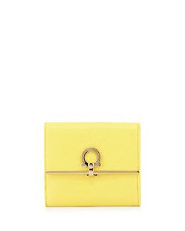 Icona Saffiano French Wallet, Mimosa