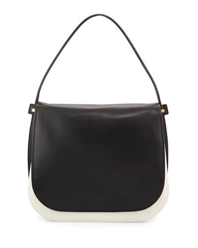 Neva Gancio Signature Hobo Bag, Lait/Black