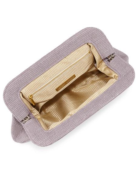 Tatum Raffia Evening Clutch Bag, Lilac