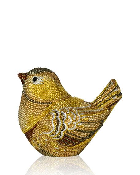 Goldfinch Crystal Clutch Bag, Champagne Aurum