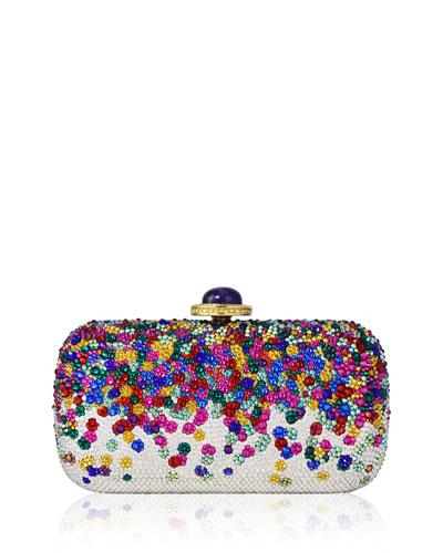 Soap Dish Confetti Crystal Clutch Bag, Champagne Rhinestone