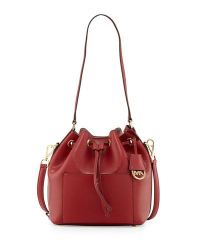 Greenwich Medium Bucket Bag, Cherry/Ballet