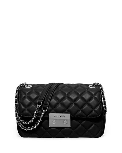 Sloan Large Chain Shoulder Bag, Black