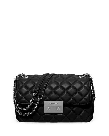 MICHAEL Michael Kors Sloan Large Chain Shoulder Bag, Black