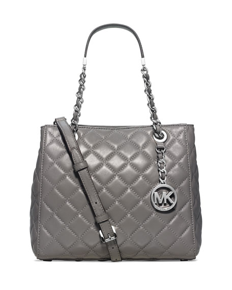 MICHAEL Michael Kors Susanna Small Tote Bag, Steel Gray