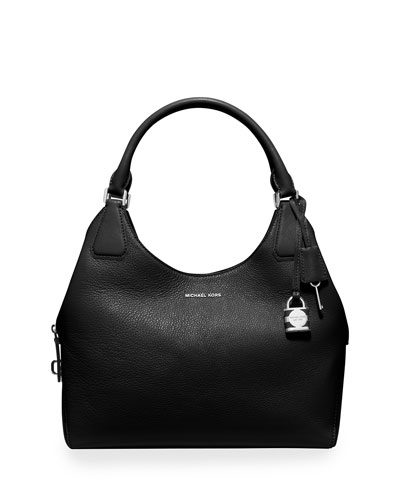 Camile Large Shoulder Bag, Black