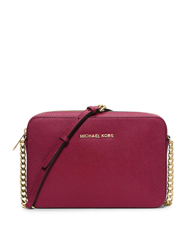cb7097fe1d94c6 MICHAEL Michael Kors Jet Set Travel Large Crossbody Bag, Cherry ...