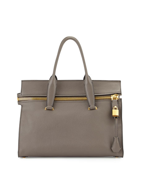 TOM FORD Alix Medium Soft Satchel Bag, Dark
