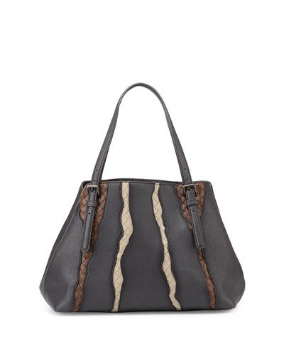 A-Shape Medium Tote Bag, Medium Gray