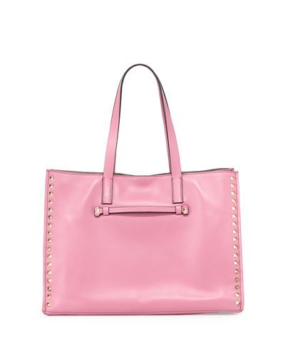 Rockstud Large Shopping Tote Bag, Pink
