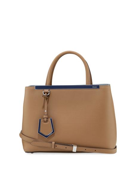 Fendi 2Jours Leather Satchel Bag, Powder