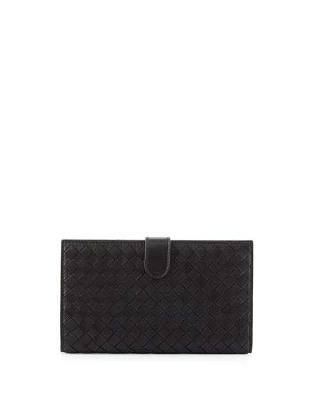 Bottega VenetaIntrecciato Lambskin Continental Wallet, Black
