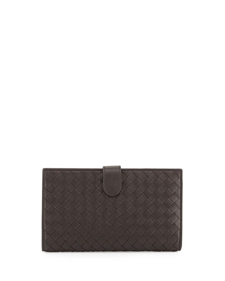 Bottega Veneta Intrecciato Lambskin Continental Wallet, Dark