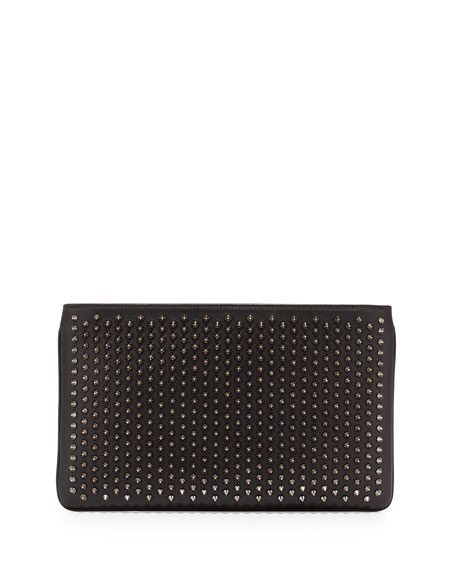Christian LouboutinLoubiposh Spiked Clutch Bag, Black