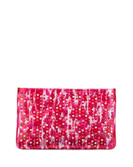 Christian Louboutin Loubiposh Glitter Clutch Bag, Pink Multi