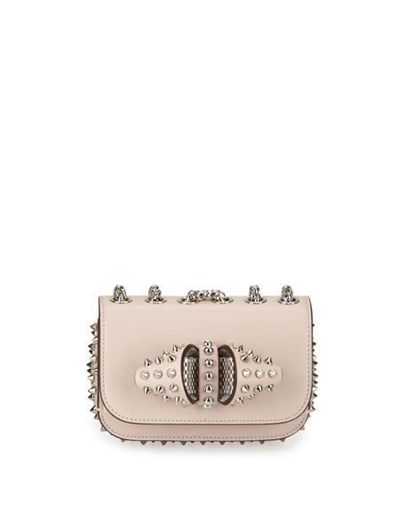 Christian Louboutin Sweety Charity Spikes Crossbody Bag, Nude