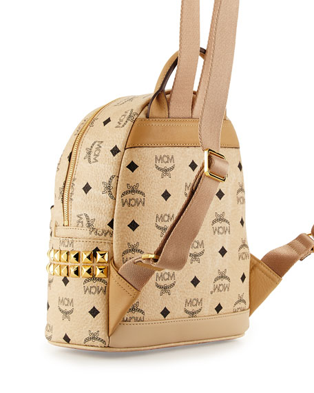 Stark Side Stud Mini Backpack, Beige