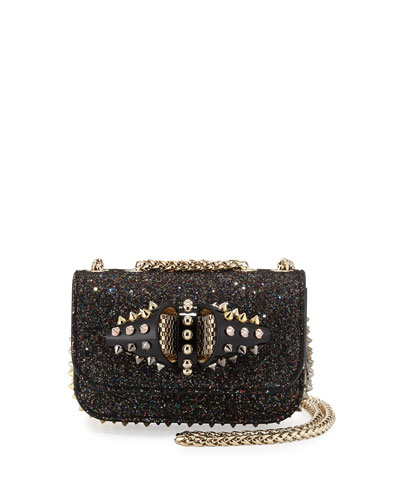 Sweety Charity Glitter Crossbody Bag, Multi Black/Gold