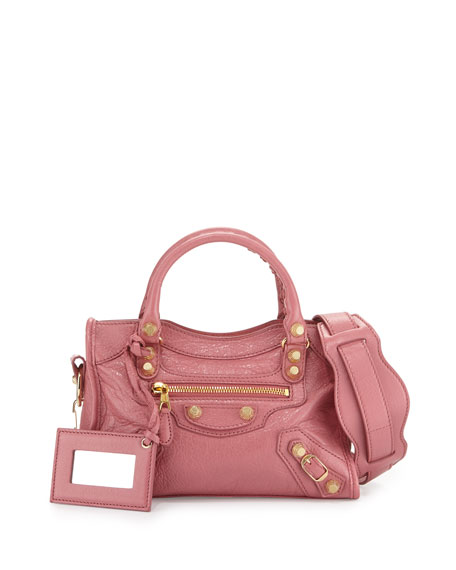 Balenciaga Giant 12 Mini City AJ Bag, Rose