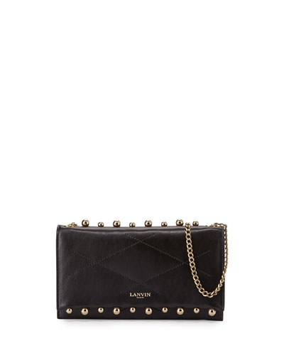 Sugar Small Pearls Wallet-on-Chain, Black