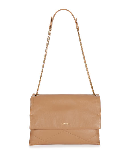 Lanvin Sugar Medium Chain Shoulder Bag, Nude