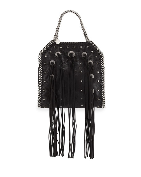 Stella McCartney Falabella Mini Conchos Fringe Tote Bag,