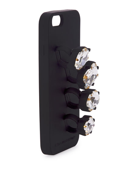 low cost f5c76 3766f Rhinestone Knuckle Ring iPhone 6 Case, Black