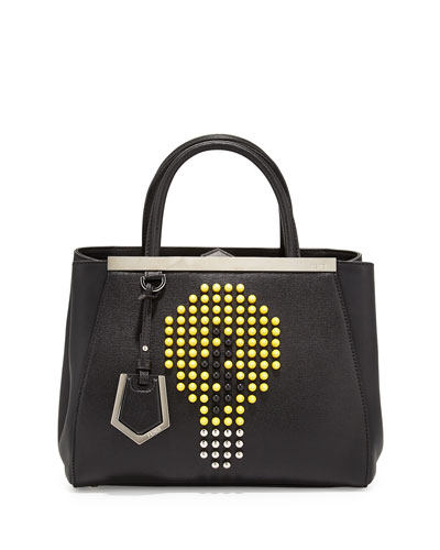 2Jours Petite Lightbulb Tote Bag, Black/Yellow