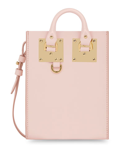 Nano Albion Leather Crossbody Bag, Blossom Pink
