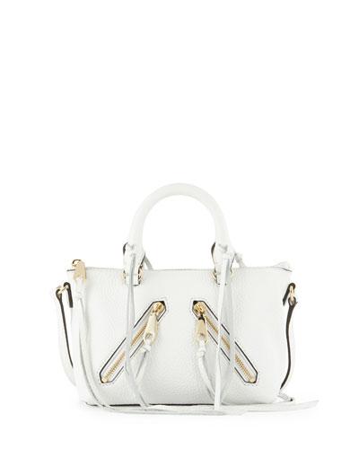 Rebecca Minkoff Micro Moto Satchel Bag, White
