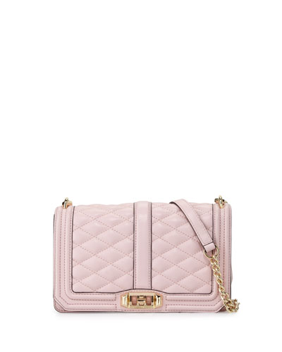 Love Quilted Crossbody Bag, Baby Pink