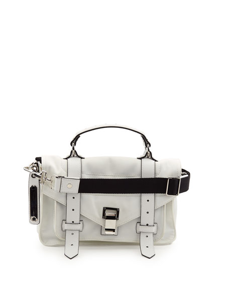 Proenza Schouler PS1 Tiny Nylon Tote Bag, Optic