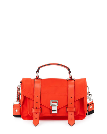 Proenza Schouler PS1 Tiny Nylon Tote Bag, Fire Red