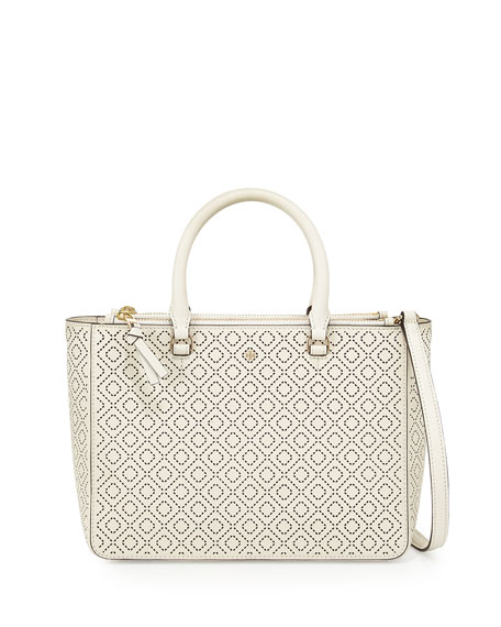 Tory Burch Robinson Small Perforated Multi Tote Bag,