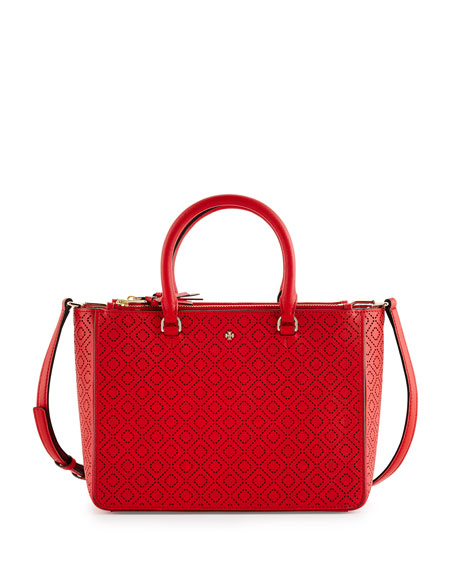 Tory Burch Robinson Perforated Small Multi Tote Bag,